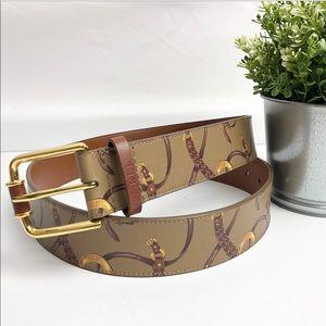 Ralph Lauren | Green printed belt size Large